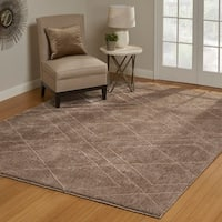 """Regal Hayley Taupe Area Rug (7'10"""" x 10') by Gertmenian"""