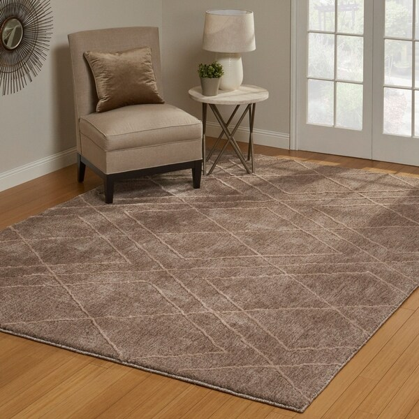 "Regal Hayley Taupe Area Rug (7'10"" x 10') by Gertmenian - 7'10"" x 10'"