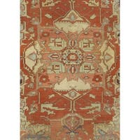 Pasargad NY Antique Red Wool Handmade Serapi Rug