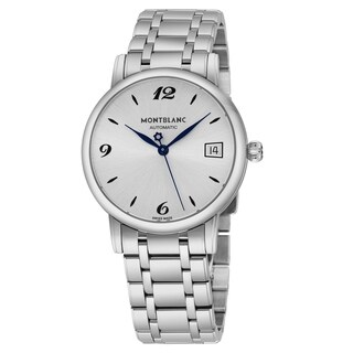 Mont Blanc Women's 111591 'Star Classique' Silver Dial Stainless Steel Date Swiss Automatic Watch
