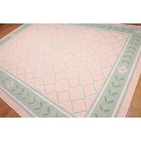 Pure Wool Reversible Dhurry Kilim Area Rug - 9'x12'