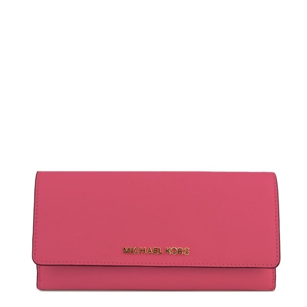6b9e76cf0078 Shop Michael Kors Flat Trifold Pink Wallet - On Sale - Free Shipping ...