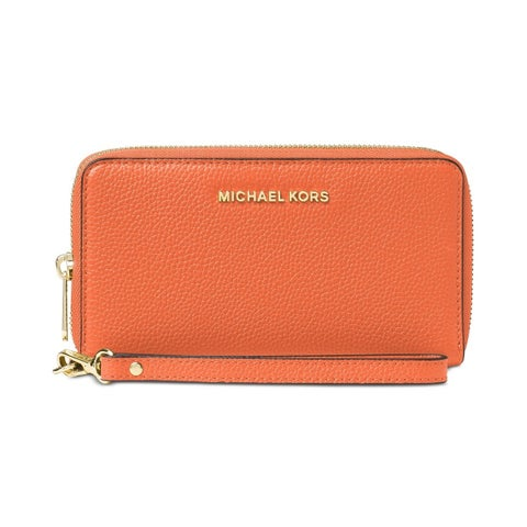 Michael Kors Large Flat Multifunction Orange Phone Case