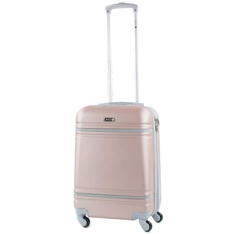 American Sport Plus Varsity 20-inch Carry-On Hardside Spinner Suitcase