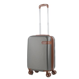 AMKA Classic 20-inch Carry-On Expandable Hardside Spinner Suitcase (Option: Charcoal/Brown)