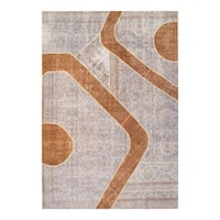 Pasargad NY Turkish Patchwork Tan Wool Handmade Area Rug
