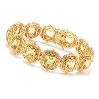 Michael Valitutti Palladium Silver Ouro Verde Halo Tennis Bracelet