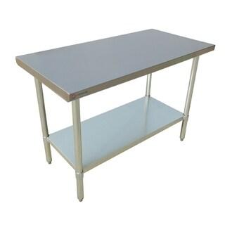 """EQ Kitchen Line Stainless Steel Restaurant Kitchen Prepare Work Surface Table 48""""Lx24""""Wx34""""H"""