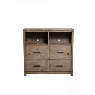 Tv Media Chest with 4 Drawers In Wood, Brown