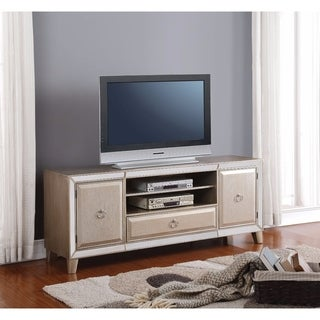 Spacious TV Stand, Antiqued Gold