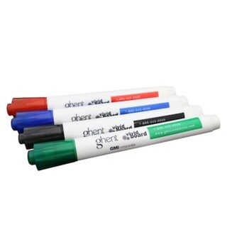 Ghent Set of 4 Markers in Assorted Colors - Blue, Black, Green, Red