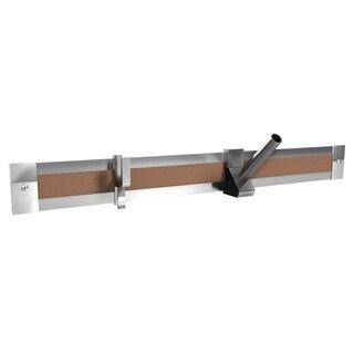 "Ghent 4' Length Aluminum 2"" Maprail with Cork Insert - 1 Per Carton"