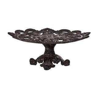 """HomeEssentials Cast Iron 14"""" Footed Cake Plate"""