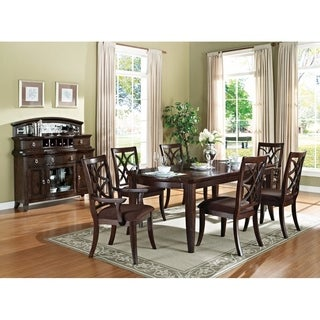 Elegant Dining Table, Dark Walnut Brown