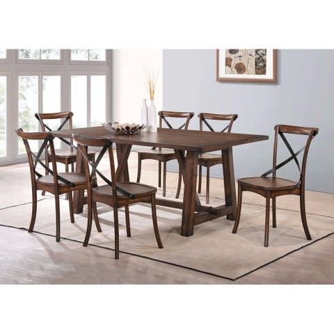 Amiable Dining Table, Dark Oak Brown