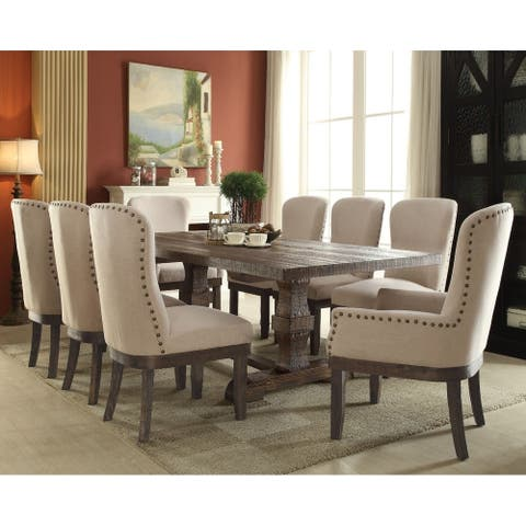 Classy Dining Table, Salvage Brown