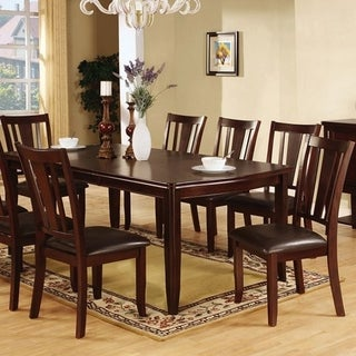 Transitional Dining Table, Espresso Brown
