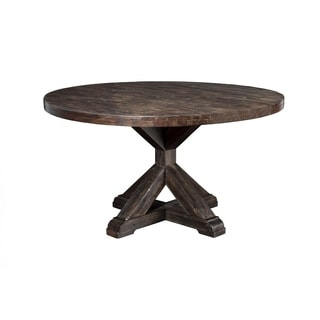 Round Dining Table In Acacia Wood Brown