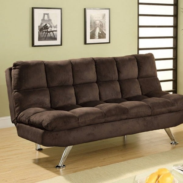 Microfiber Futon Sofa Brown Free Shipping Today 21753047