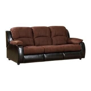 Microfiber Three Seater Sofa/Queen Size Sleeper, Brown