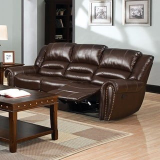 Shop Classic Soft Microfiber And Bonded Leather Sofa