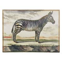 """Diderot Zebra"" Digital Print on Fresco Jute - Multi-color - 30 x 40"