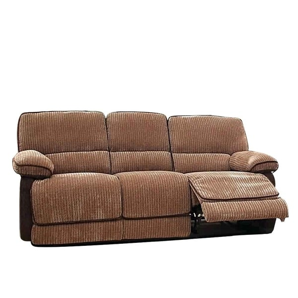 Shop Chenille Three seater Sofa Recliner, Brown - Free ...