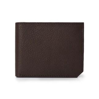 Handmade Phive Rivers Men's Leather Brown Wallet (Italy) - Medium