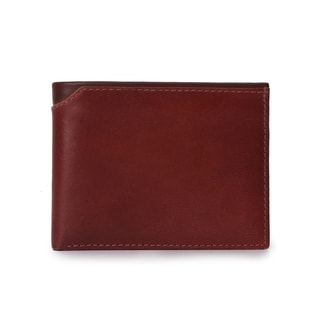 Handmade Phive Rivers Men's Leather Red Wallet  (Italy) - Medium