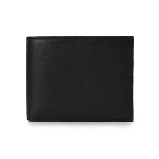 Handmade Phive Rivers Men's Leather Black Wallet (Italy) - Medium