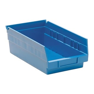 "Quantum Blue Economy Shelf Bin 11-5/8""Lx 6-5/8""Wx 4""H - 30 Pack"