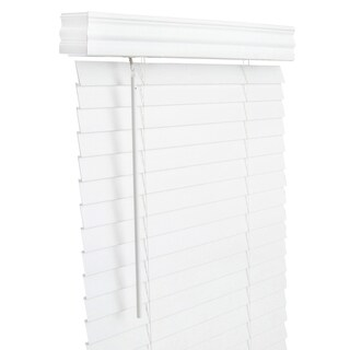 Lotus & Windoware 61x60 White Faux Wood Blind