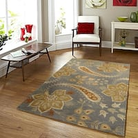 LR Home Glamour Gray Rectangle Indoor Area Rug - 5' x 7'9