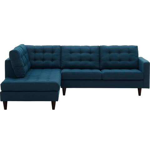 Empress 2 Piece Upholstered Fabric Left Facing Sectional