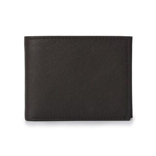Handmade Phive Rivers Men's Leather Dark Grey Wallet (Italy) - Medium