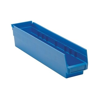 "Quantum Blue Economy Shelf Bin 17-7/8"" x 4-1/8"" x 4"" - 20 Pack"