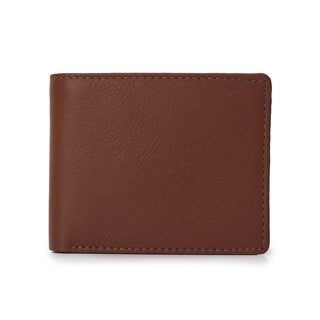 Handmade Phive Rivers Men's Leather Tan Wallet (Italy) - Medium