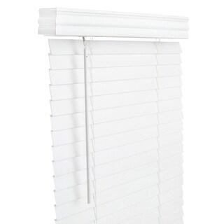 Lotus & Windoware 71x64 White Faux Wood Blind