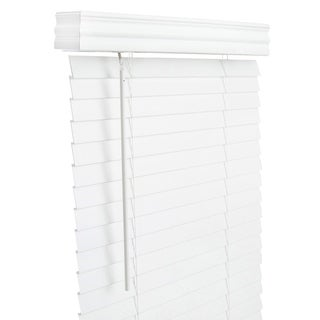 Lotus & Windoware 34.5x60 White Faux Wood Blind