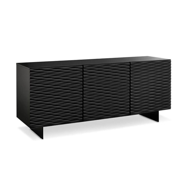 Whiteline Vanessa Black Buffet Style Tv Entertainment Stand Cabinet