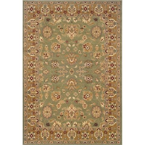 "LR Home Adana Green / Gold Rectangle Indoor Area Rug (9'2"" x 12'6"") - 9'2 x 12'6"