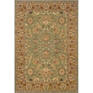 "LR Home Adana Green / Gold Rectangle Indoor Area Rug (9'2"" x 12'6"") - 9'2"" x 12'6"""