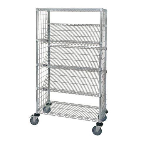 "Quantum 18"" x 36"" x 69"" Enclosed Slanted Shelf Cart"