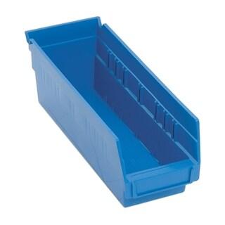 "Quantum QSB101 Economy 4"" Polypropylene Shelf Bins in Blue - 36 Pack"