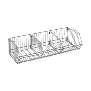 "Quantum Storage Systems One 20""W X 36""L X 9""H Modular Shelf Basket in Chrome Finish"