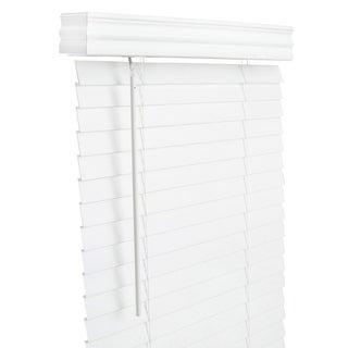 Lotus & Windoware 71x60 White Faux Wood Blind
