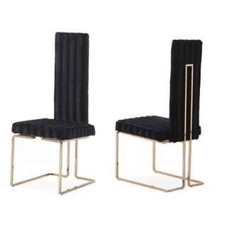 Modrest Kingsley Black & Rosegold Dining Chair (Set of 2)