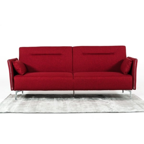 Davenport Red Sofa Bed