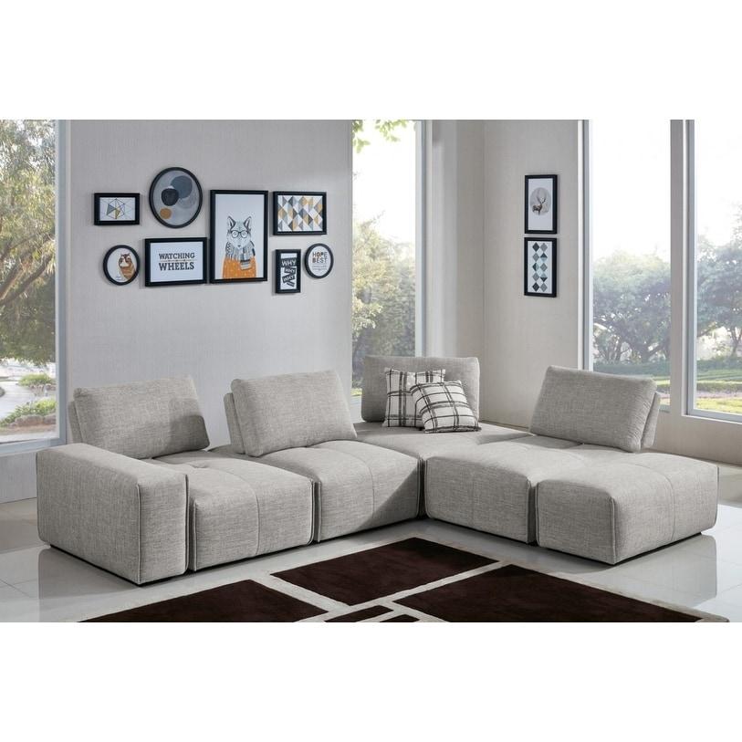 Samuel Design Divani.Divani Casa Platte Grey Modular Sectional Sofa