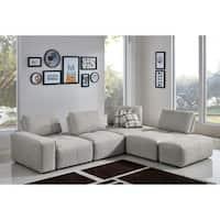 Divani Casa Platte Grey Modular Sectional Sofa